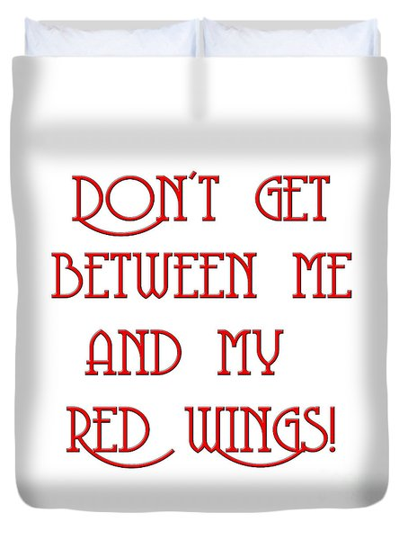 Duvet Cover featuring the digital art Me And My Red Wings 1 by Andee Design