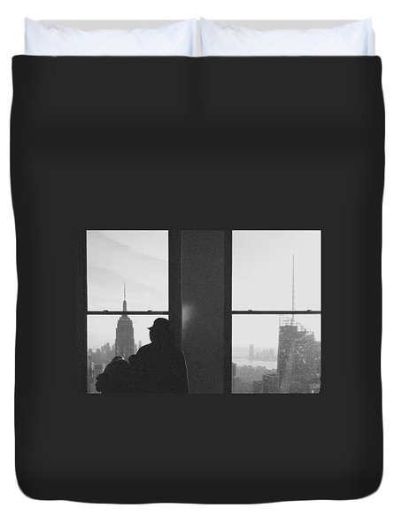 Me And Nyc Duvet Cover by J Montrice