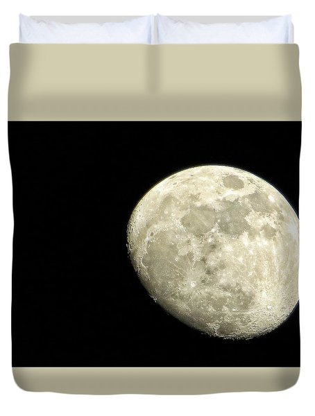 Duvet Cover featuring the photograph Me And The Moon Tonight by Nikki McInnes