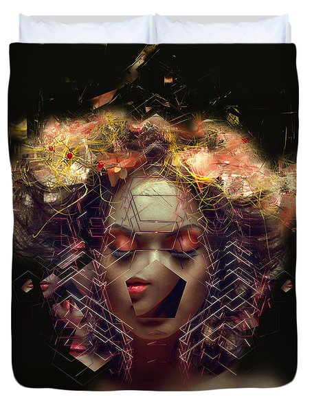 Me Inside Of Me Duvet Cover by Bojan Jevtic