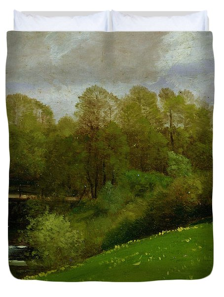 Meadow And Woodland Duvet Cover by Valentin Ruths