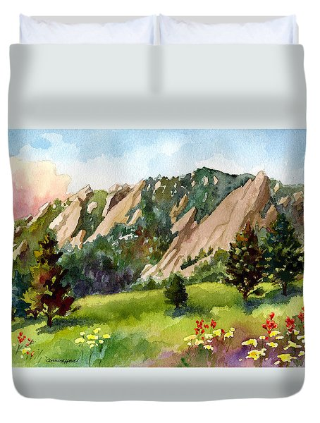 Meadow At Chautauqua Duvet Cover