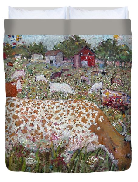 Meadow Farm Cows Duvet Cover