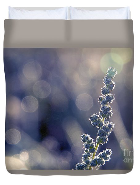 Duvet Cover featuring the photograph Meadow Flower  by Odon Czintos