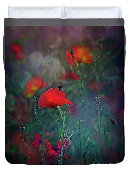 Meadow In Another Dimension Duvet Cover by Agnieszka Mlicka