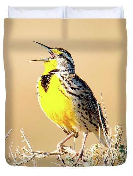 Meadow Lark Duvet Cover