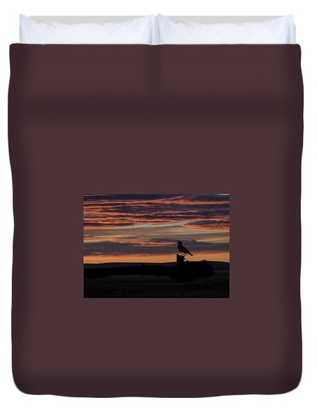 Meadow Lark's Salute To The Sunset Duvet Cover