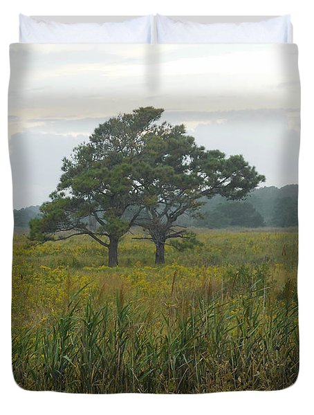 Meadow Of Seaside Goldenrod Duvet Cover