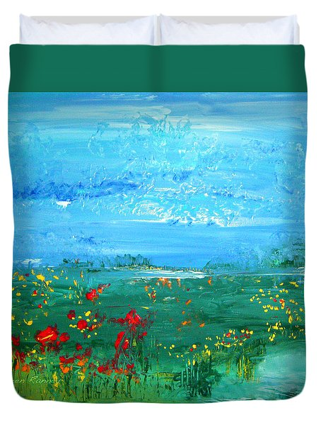 Meadow Pond By Colleen Ranney Duvet Cover