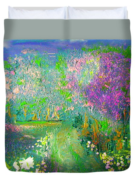 Meadow Trail By Colleen Ranney Duvet Cover