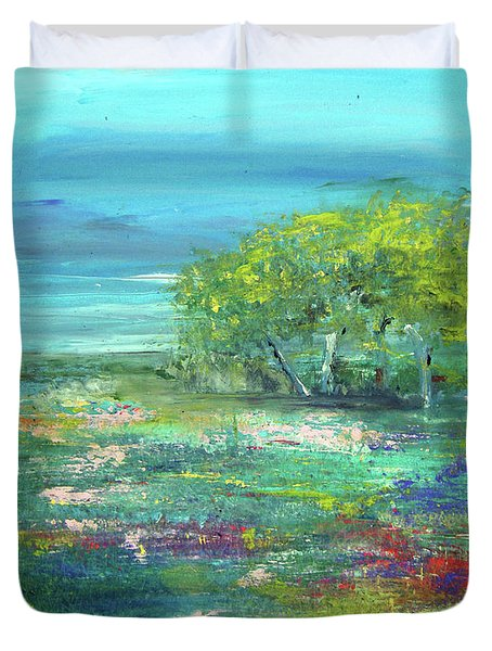 Meadow Trees Duvet Cover