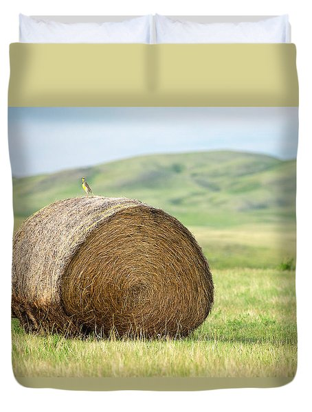 Meadowlark Heaven Duvet Cover by Todd Klassy