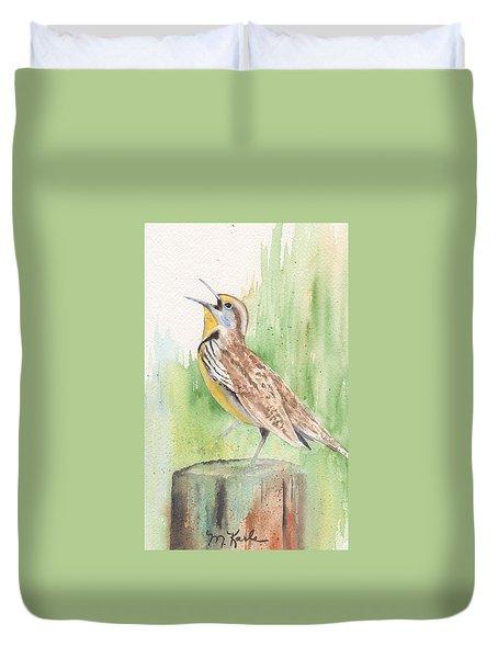 Meadowlark Duvet Cover