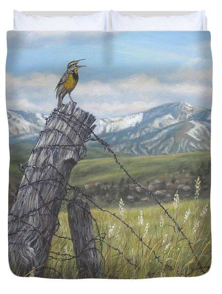 Meadowlark Serenade Duvet Cover