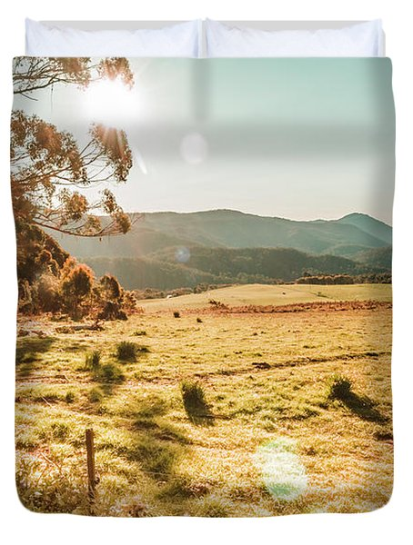 Meadows And Mountains Duvet Cover