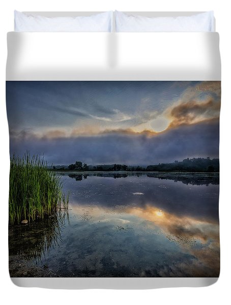 Duvet Cover featuring the photograph Meadows Morning by Tom Singleton