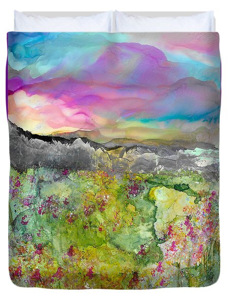 Meadows Of Banff Duvet Cover