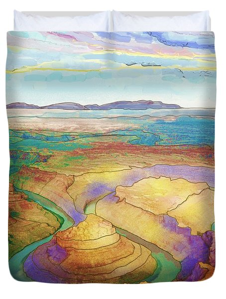 Meander Canyon Duvet Cover