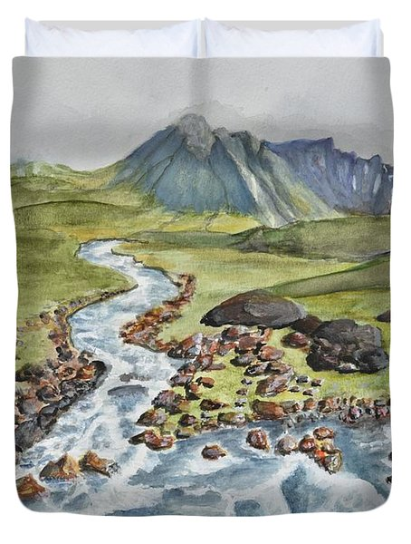 Meandering Stream Duvet Cover