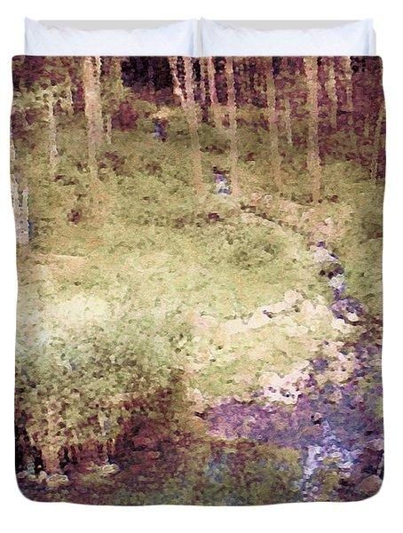 Meandering Woodland Stream Duvet Cover