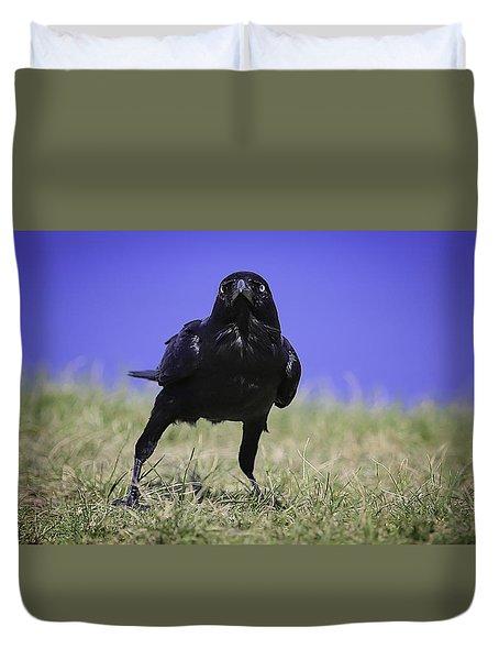 Menacing Crow Duvet Cover