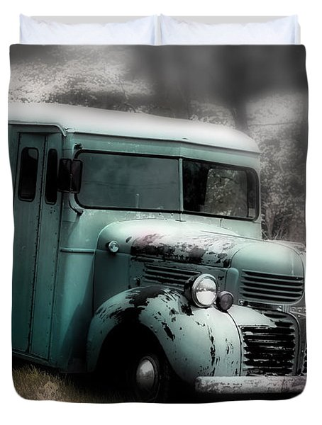 Meat Truck Duvet Cover by Gray  Artus