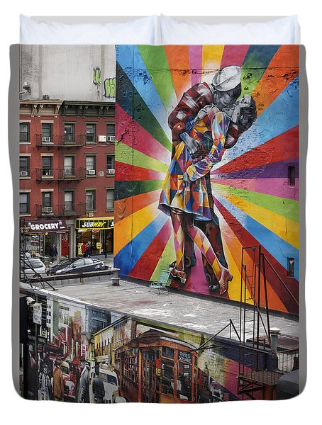 Duvet Cover featuring the photograph Meatpacking District Nyc by Juergen Held