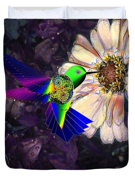 Mecha Whirlygig Duvet Cover by Iowan Stone-Flowers