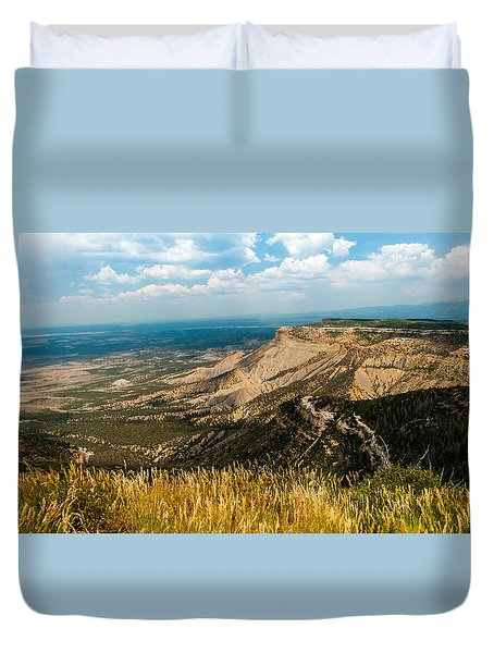 Duvet Cover featuring the photograph Mesa Verde by Jay Stockhaus