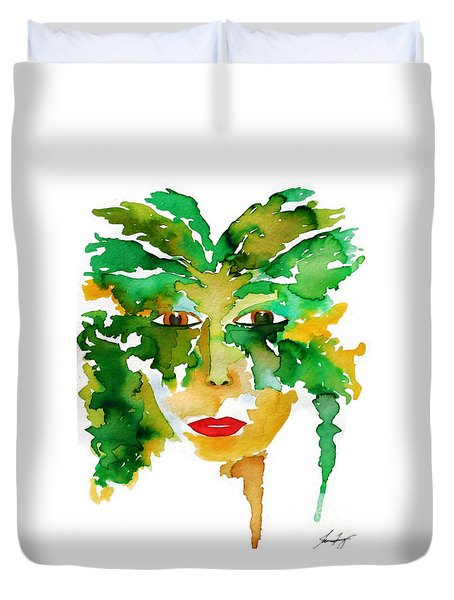 Medeina Goddess Of The Woodland Forest Duvet Cover