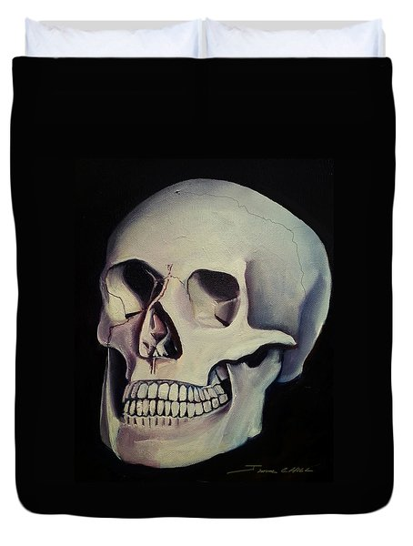 Medical Skull  Duvet Cover