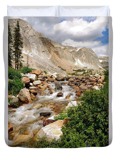 Medicine Bow Peak In The Snowy Range Wyoming Duvet Cover