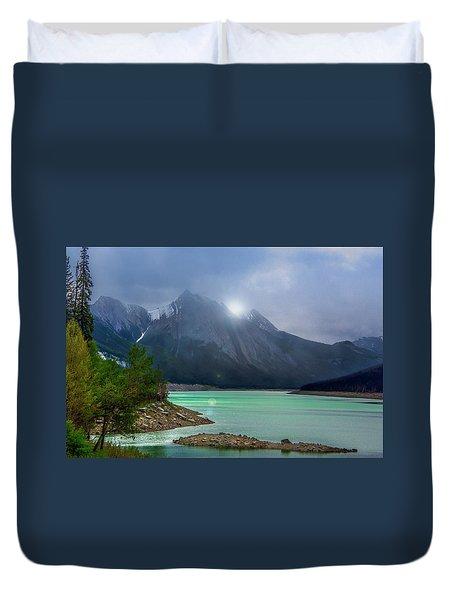 Medicine Lake, Alberta Duvet Cover