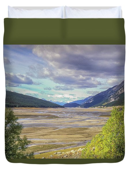 Duvet Cover featuring the photograph Medicine Lake Bed 2006 by Jim Dollar
