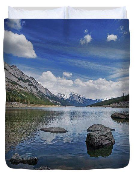 Medicine Lake, Jasper Duvet Cover