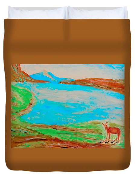 Medicine Lake Duvet Cover