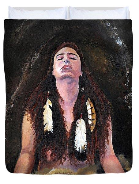 Medicine Woman Duvet Cover by J W Baker