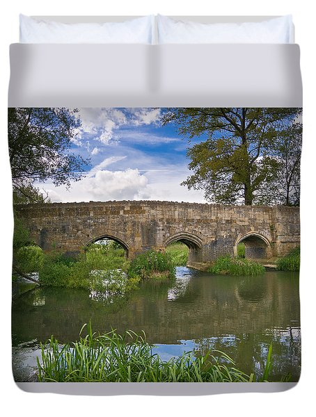 Medieval Bridge Duvet Cover