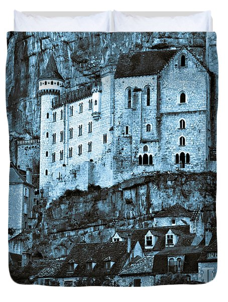 Medieval Castle In The Pilgrimage Town Of Rocamadour Duvet Cover