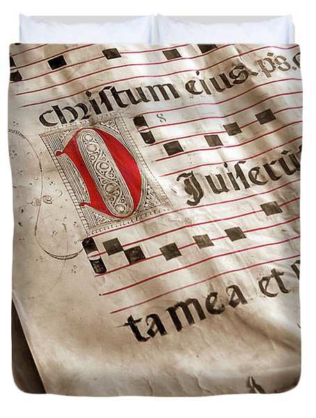 Medieval Choir Book Duvet Cover