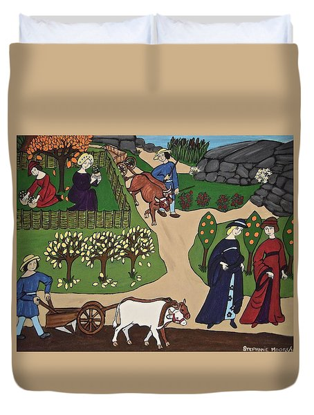 Medieval Fall Duvet Cover by Stephanie Moore