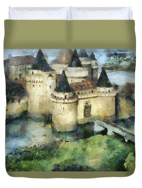 Medieval Knight's Castle Duvet Cover