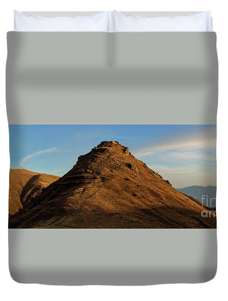 Medieval Proshaberd Fortress On The Top Of The Hill, Armenia Duvet Cover by Gurgen Bakhshetsyan