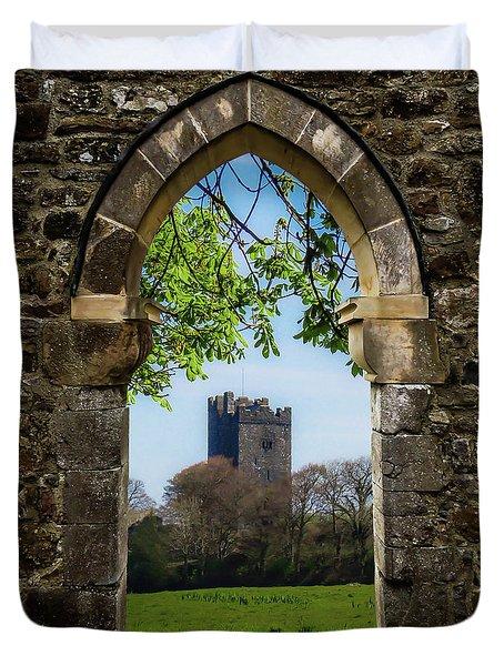Duvet Cover featuring the photograph Medieval Vista Of Dysert O'dea Castle by James Truett