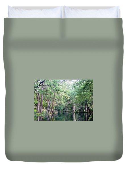 Medina Creek In Summer Duvet Cover