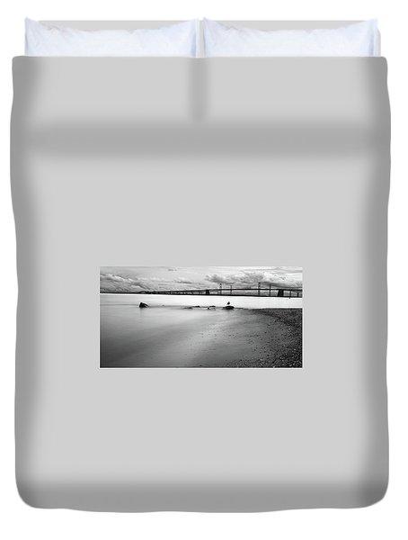 Meditating Sea Gull Duvet Cover