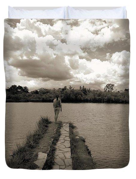 Meditation Duvet Cover by Beto Machado