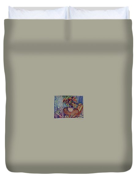 Meditation Duvet Cover