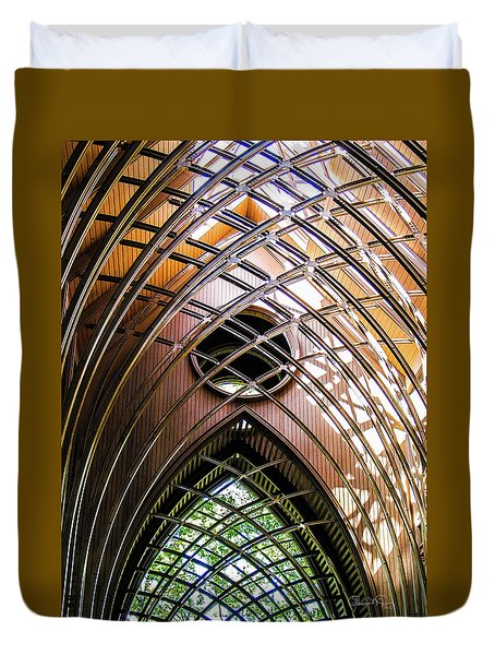Meditation In Glass And Steel - 5 Duvet Cover