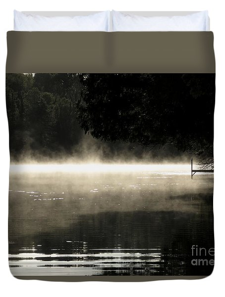 Duvet Cover featuring the photograph Meditation Morning by France Laliberte